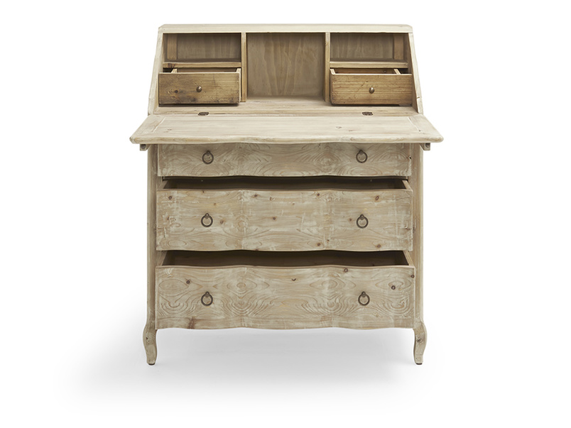 Vintage reclaimed Quill writing desk and bureau