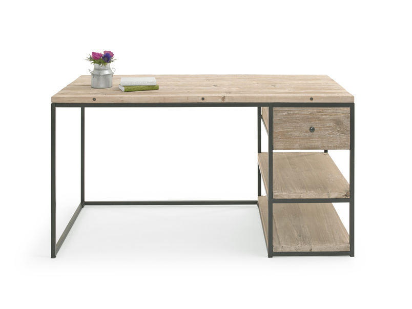 Industrial wooden Den home office, study and writing desk