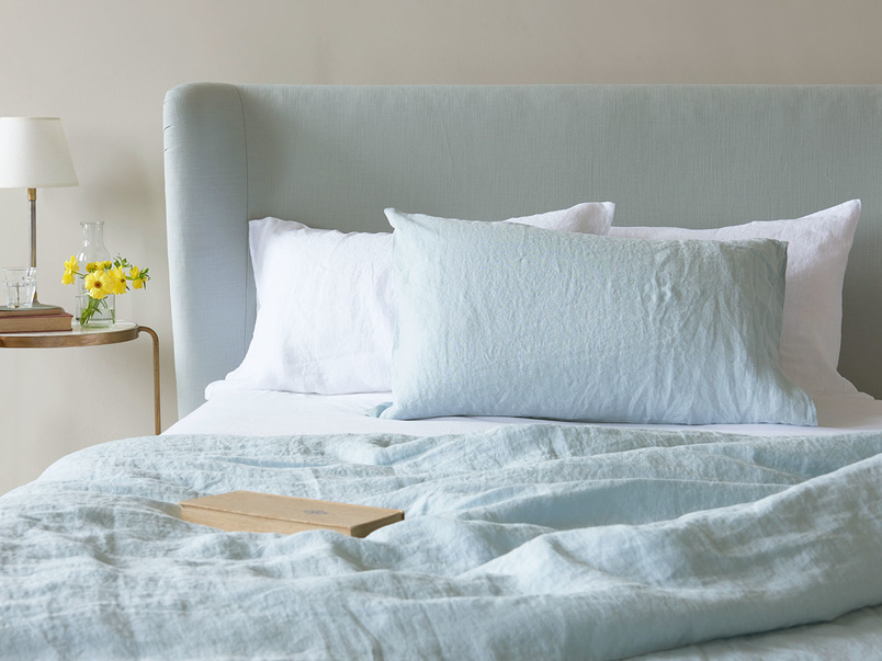 Duck Egg lazy bed linen