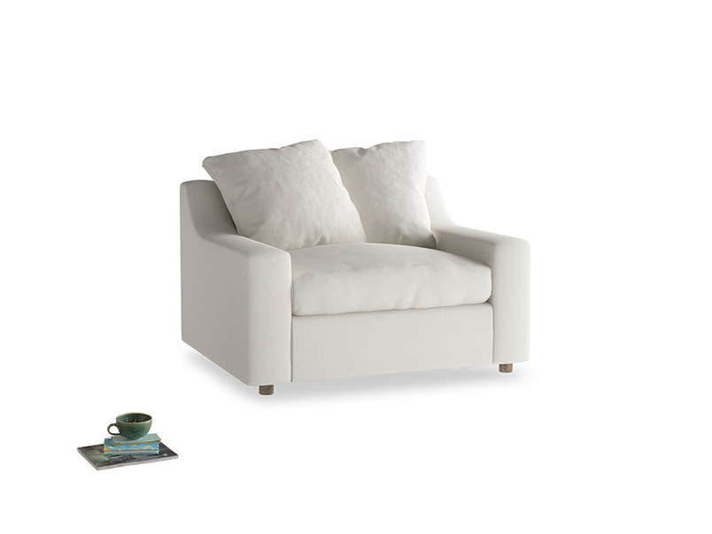 Love Seat Sofa Bed Cloud love seat sofa bed in Oyster white clever linen