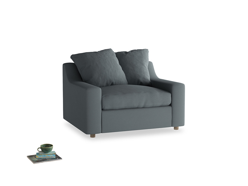 Love Seat Sofa Bed Cloud love seat sofa bed in Meteor grey clever linen