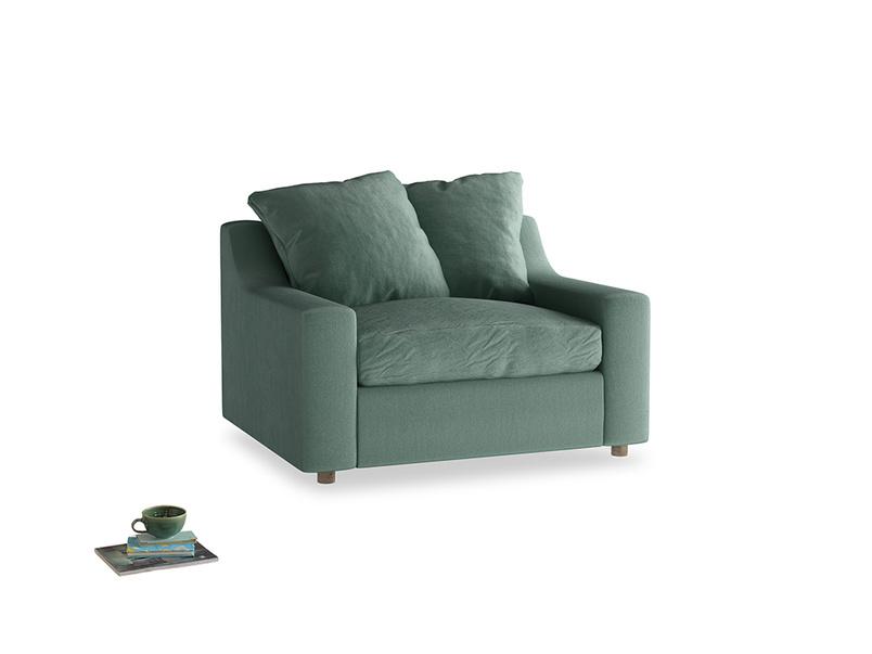 Love Seat Sofa Bed Cloud love seat sofa bed in Sea blue vintage velvet