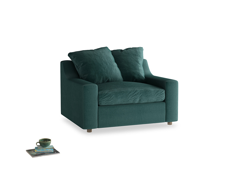 Love Seat Sofa Bed Cloud love seat sofa bed in Timeless teal vintage velvet