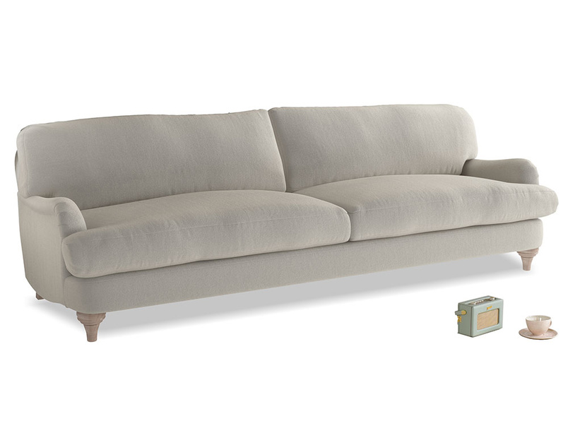 Extra large Jonesy Sofa in Smoky Grey clever velvet