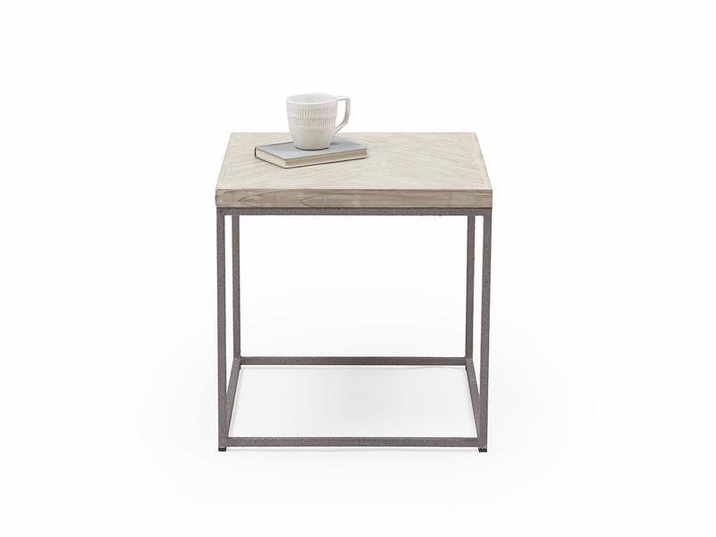 Little Parker wooden parquet side table