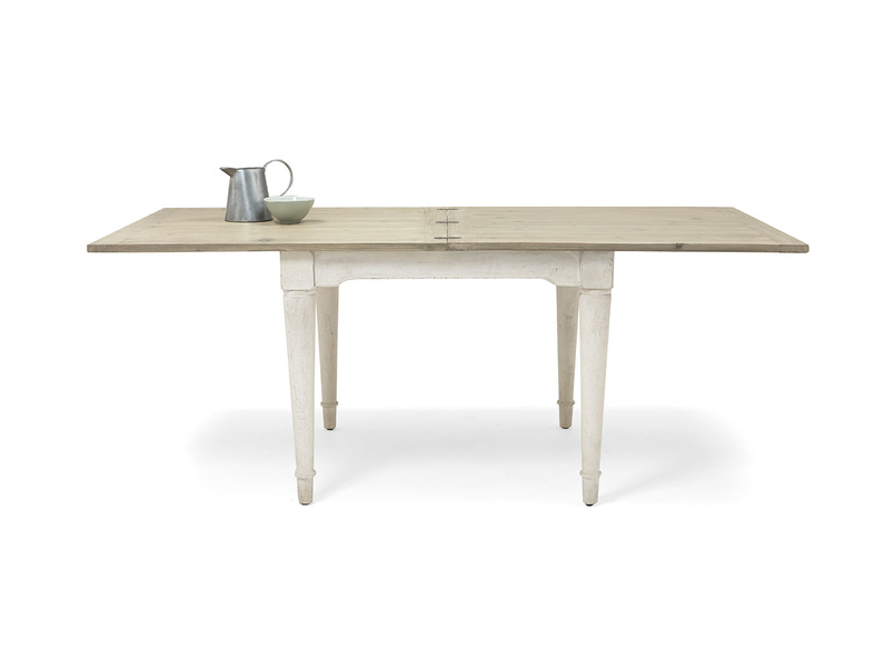 Toaster flip top kitchen table in Vintage White