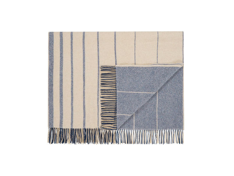Ripple striped blanket