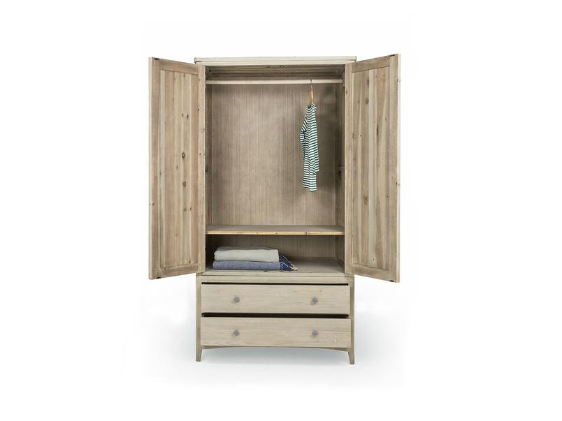 Swash tongue and groove wood wardrobe