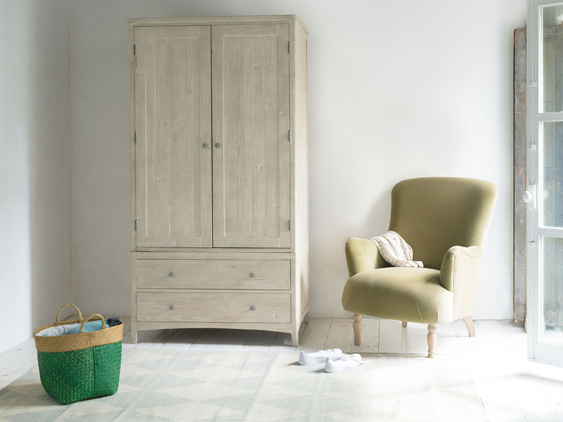 Swash tongue and groove wooden wardrobe