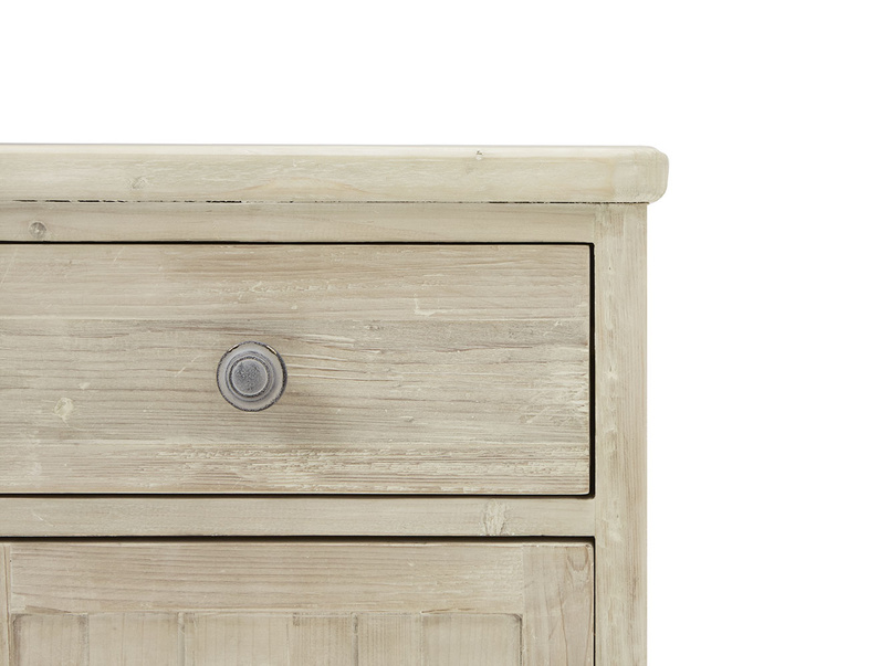 Stowaway tongue and groove wood bedside table