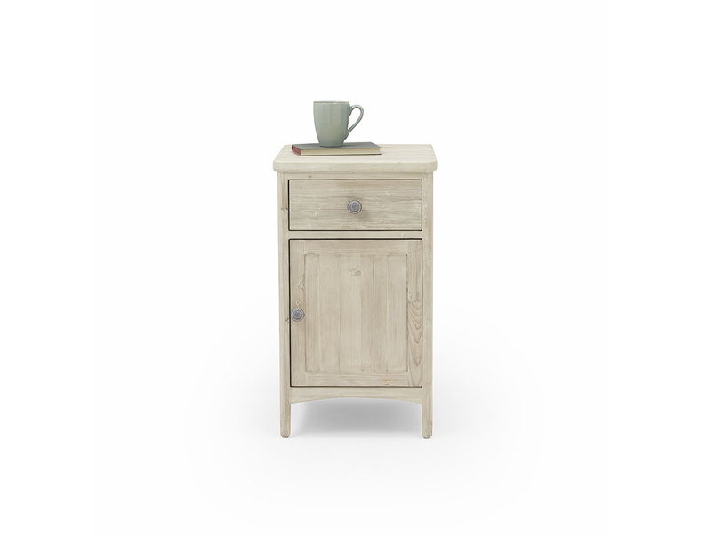 Stowaway beached timber bedside table