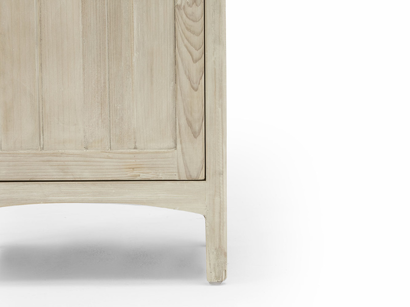 Stowaway reclaimed wood bedside table