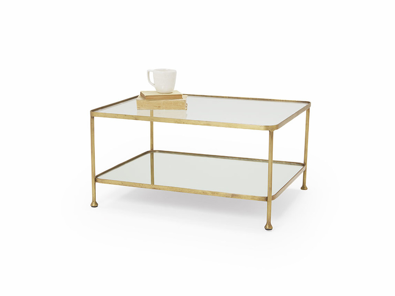 Wonder-Boy brass and mirror coffee table
