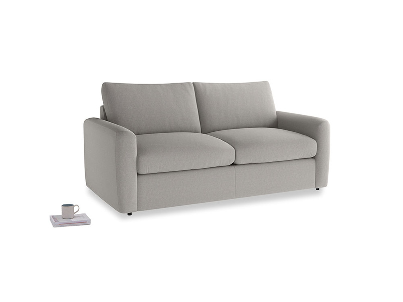 Chatnap Sofa Bed in Wolf brushed cotton with both arms