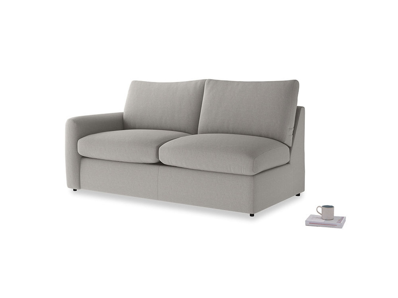 Chatnap Sofa Bed in Wolf brushed cotton with a left arm