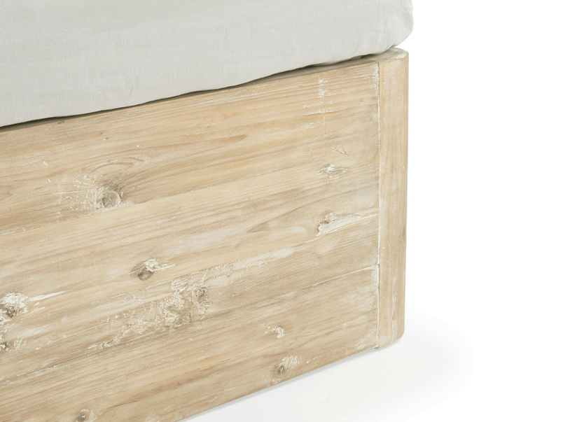 Contemporary Woody storage bed made from solid reclaimed fir