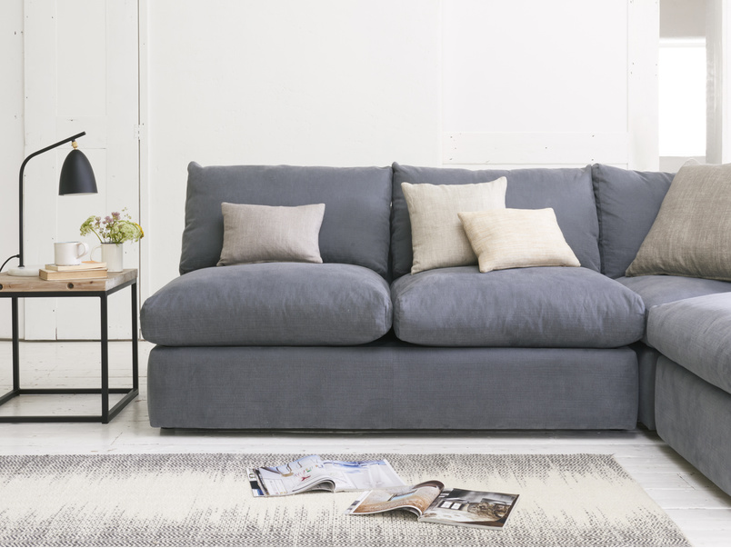 Modular chatnap double armless sofa with handy storage space