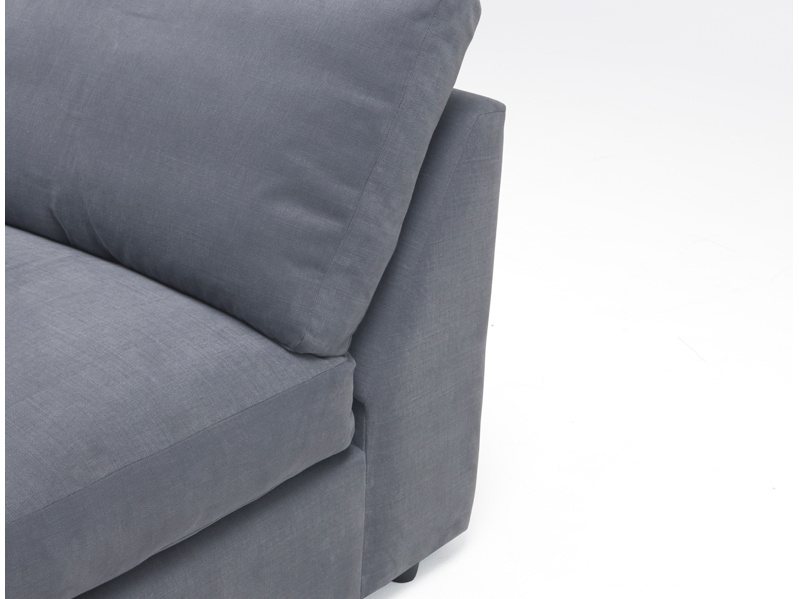 Sectional Chatnap double armless sofa with storage space
