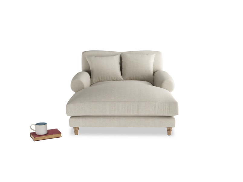 Contemporary deep Crumpet love seat chaise
