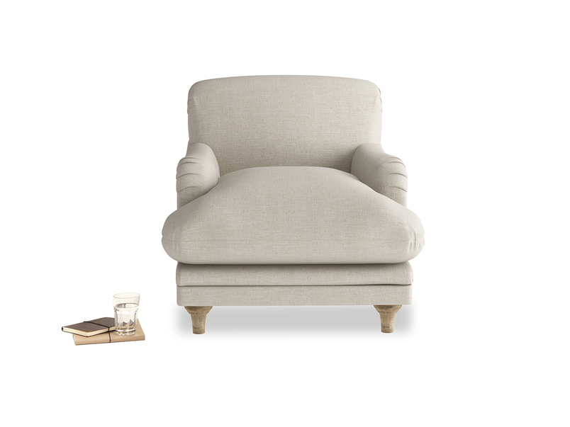 Beautiful British made luxury comfy handmade Pudding armchair