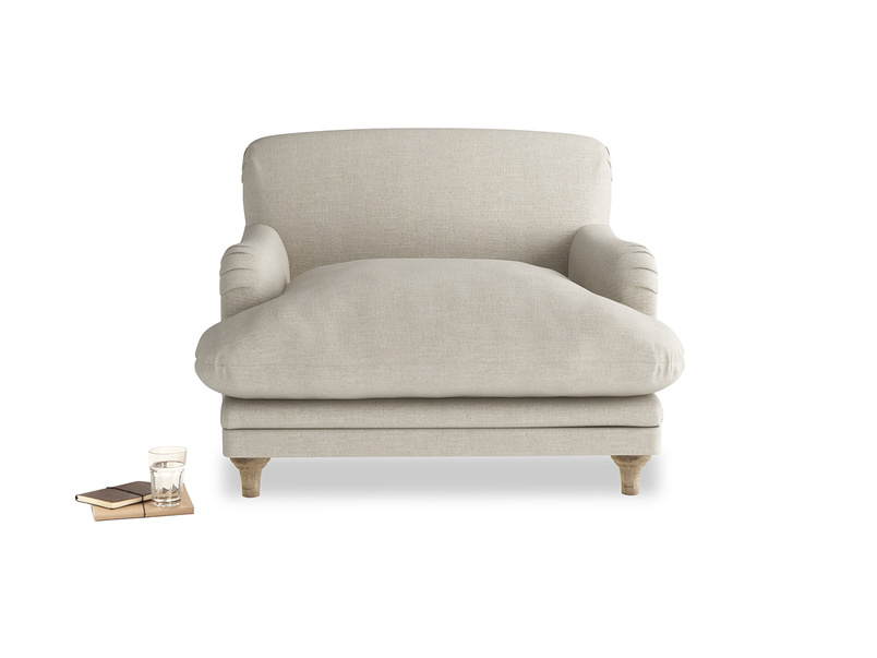 British made luxury Pudding love seat and snuggler sofa