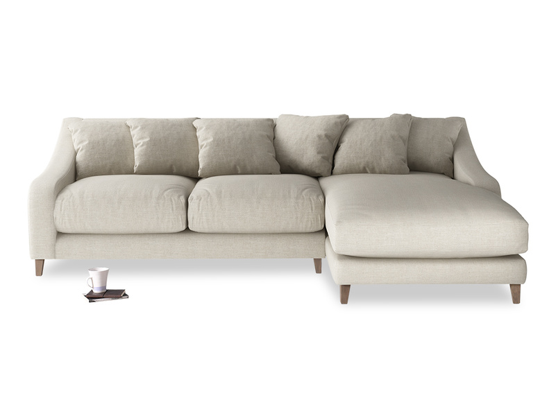 Classic Oscar Chaise sofa deep and comfy sofa handmade in Britain