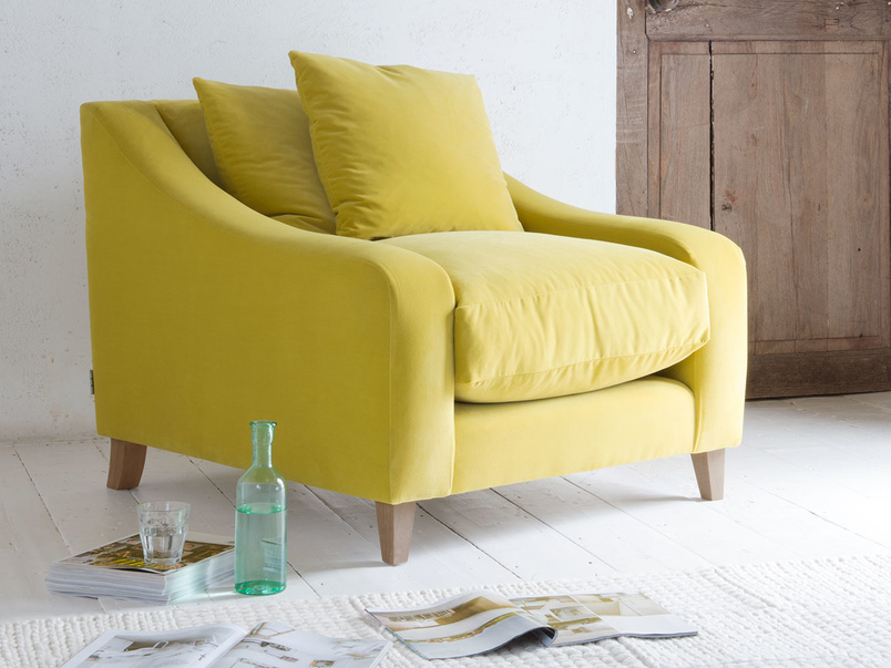 Oscar British made comfy handmade deep luxury armchair