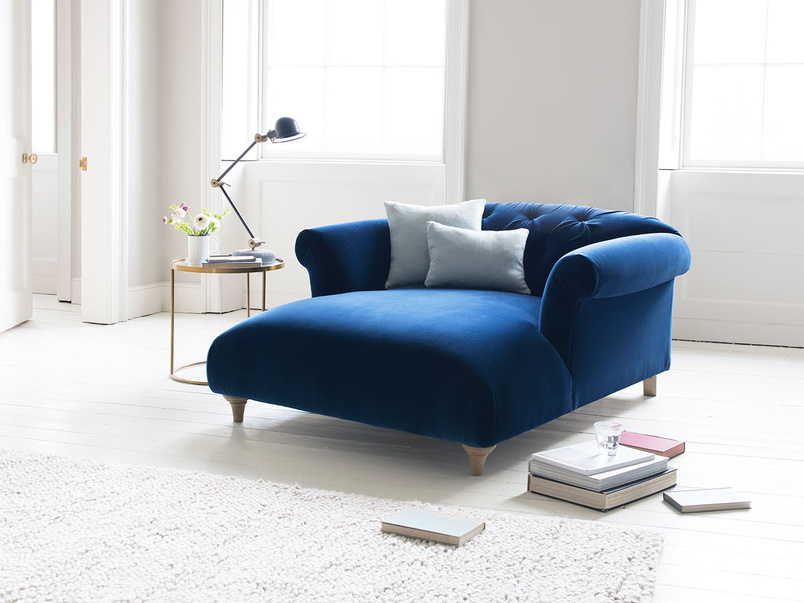 Button back Dixie love seat chaise