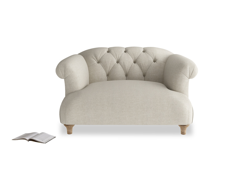 Gorgeous Dixie chesterfield buttoned back love seat and snuggler sofa