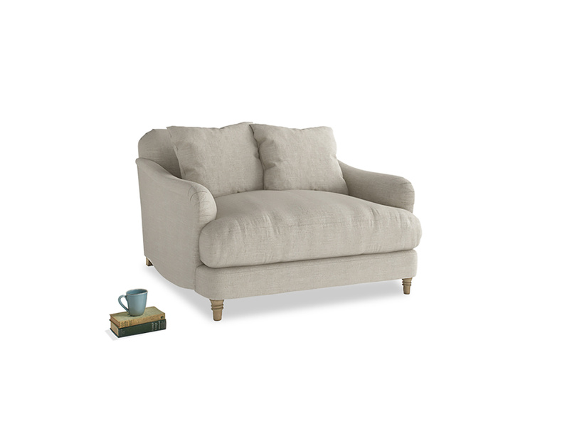 Traditional gorgeous Achilles love seat and snuggler sofa