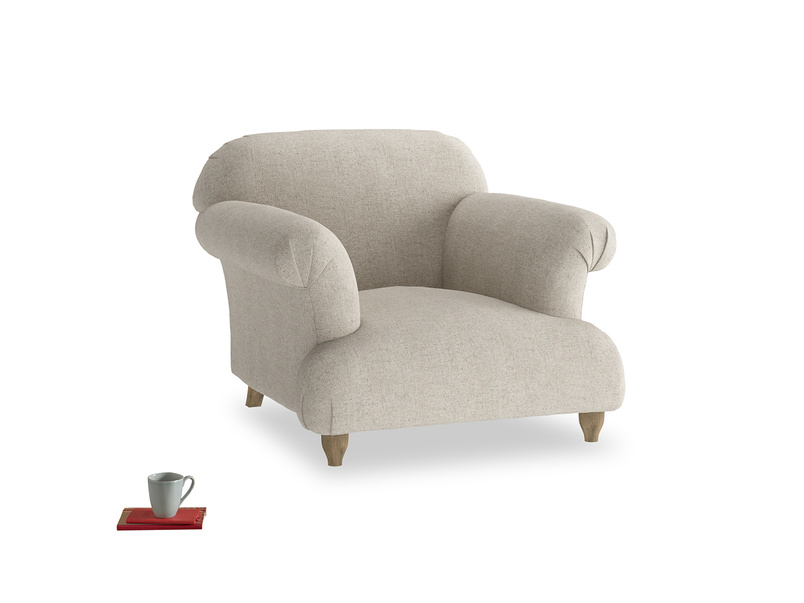 Soufflè contemporary comfy authentic luxury British made armchair