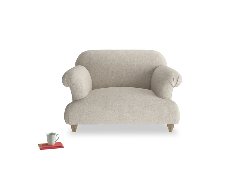 Classic Soufflé contemporary love seat and snuggler