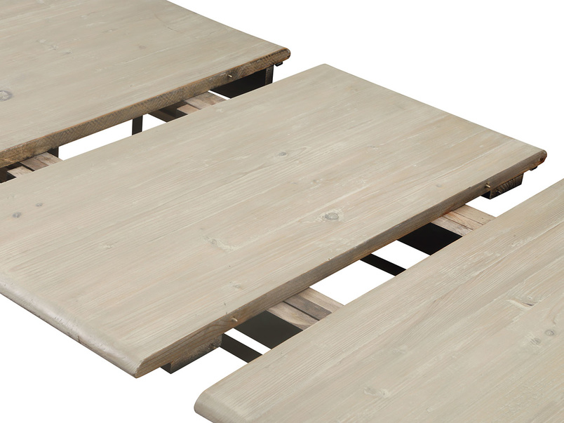Farmhouse extending reclaimed wood Toaster extendable dining table