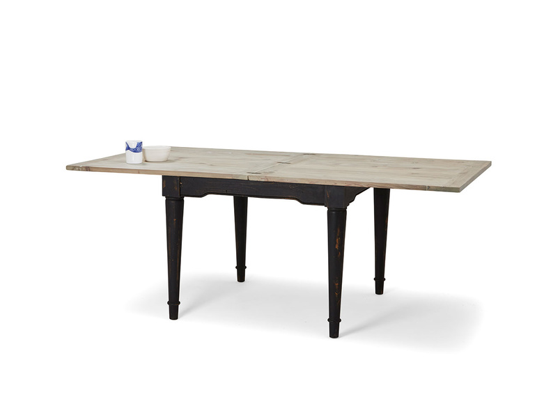 Toaster extendable farmhouse kitchen table with flip top