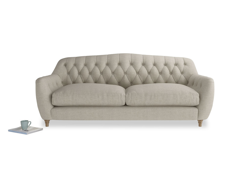 Butterbump button back modern chesterfield sofa