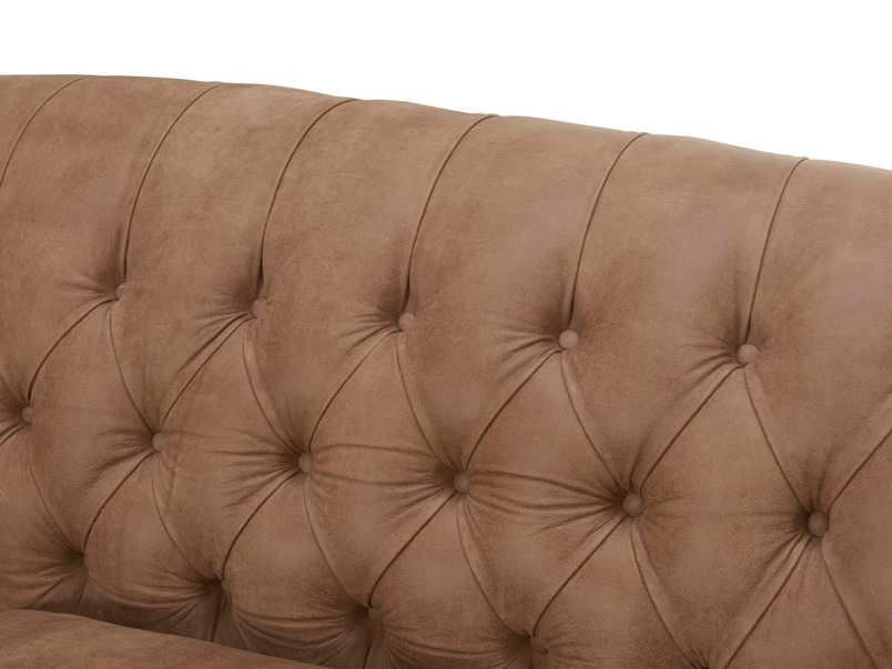 Button back chair and Butterbump chesterfield love seat