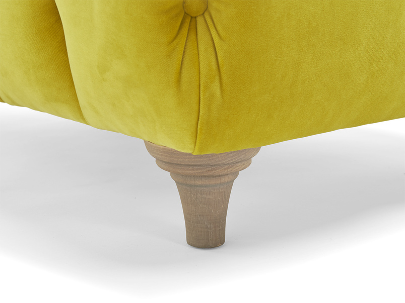 Dimple rectangle chesterfield handmade upholstered footstool