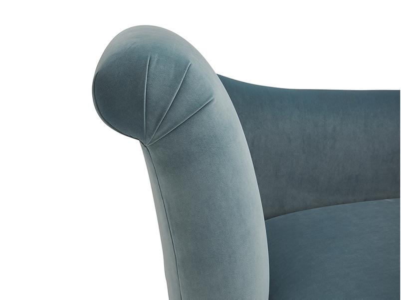 Contemporary comfy Brontë chaise longue sofa handmade in Britain