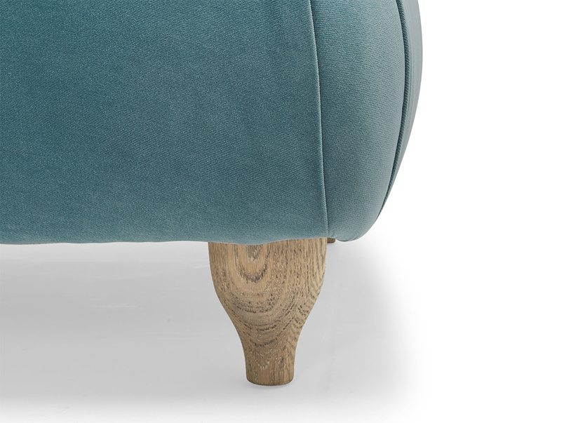 Contemporary Brontë luxury and comfy chaise longue with weathered oak legs