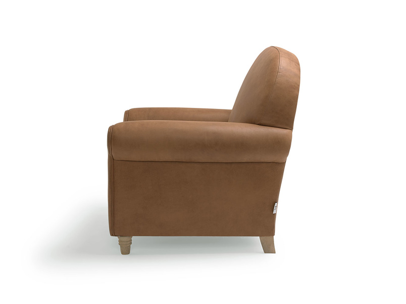Traditional small Club occasional armchair