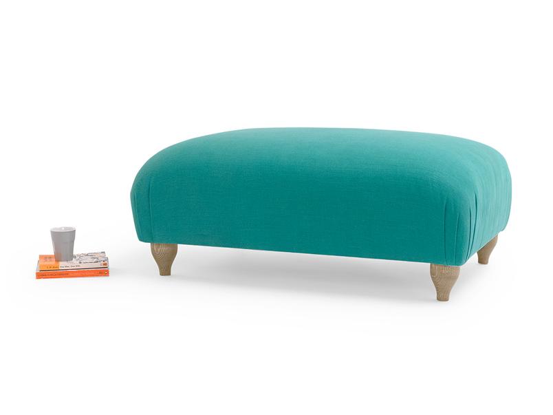 British made Homebody upholstered handmade footstool