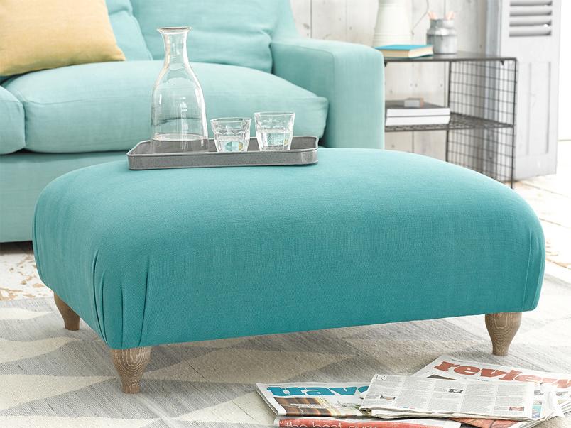 Homebody upholstered handmade footstool