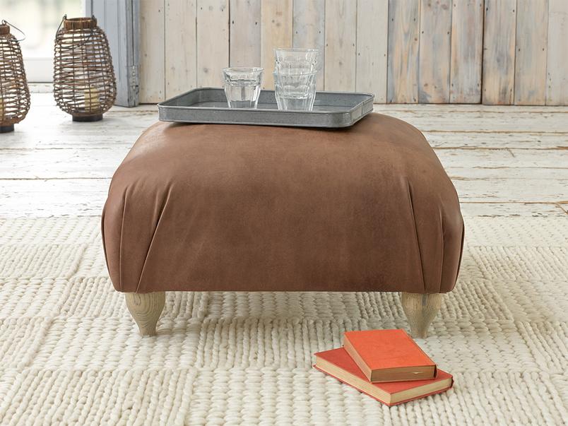 Gorgeous Homebody upholstered handmade footstool