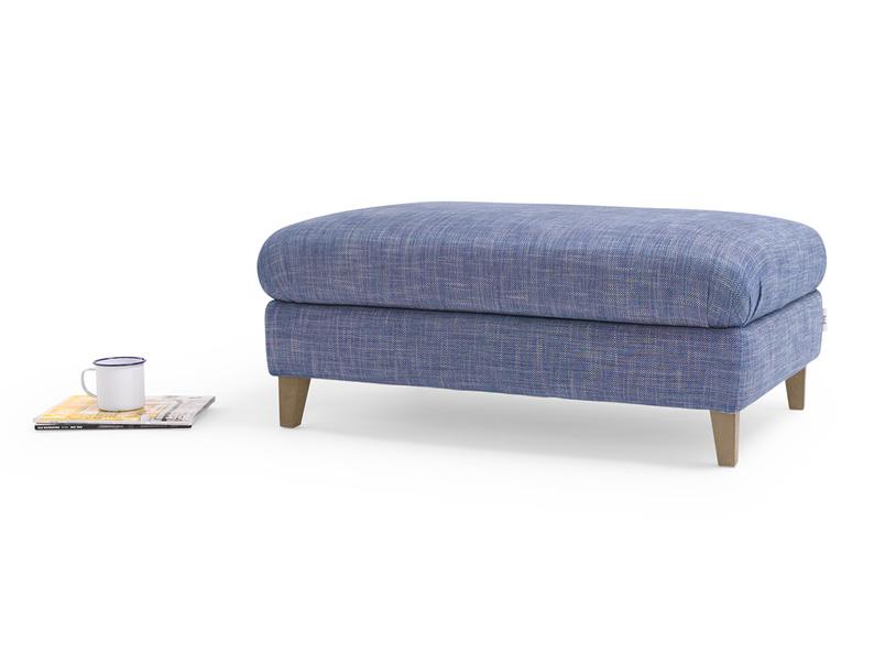 Fabric upholstered large Legsie footstool coffee table