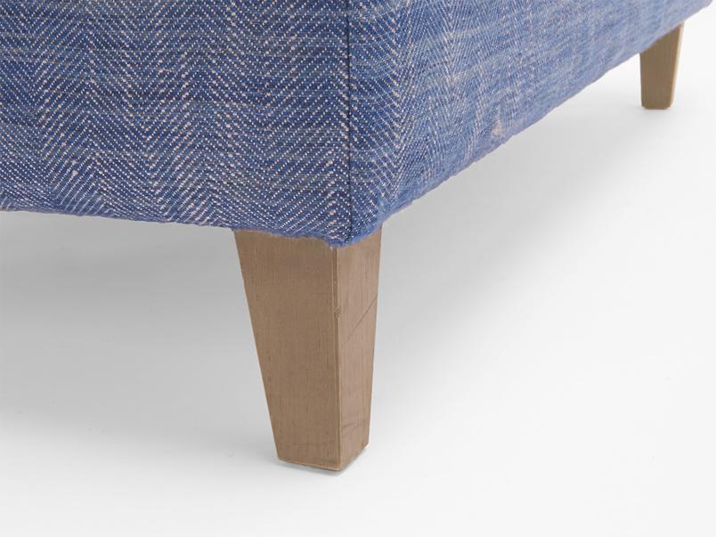 Legsie large upholstered fabric footstool coffee table