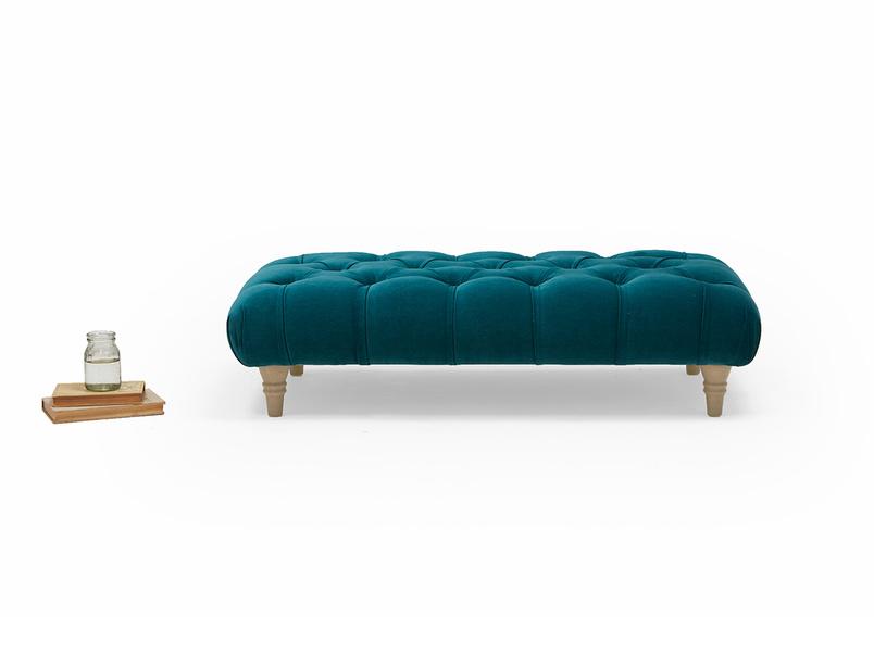 Comfty upholstered British made footstool