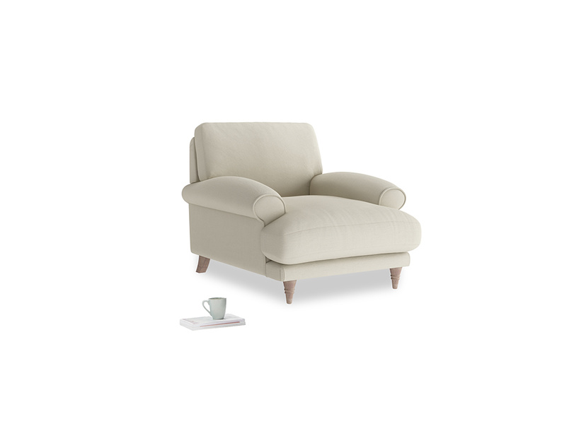 Slowcoach Armchair in Pale rope clever linen