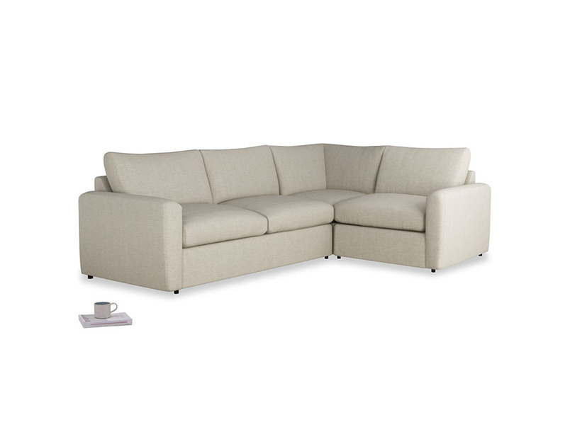 Large right hand Chatnap modular corner sofa bed in Thatch house fabric with both arms