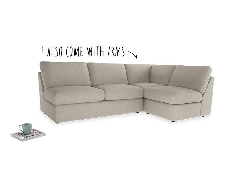 Large right hand Chatnap modular corner storage sofa in Thatch house fabric