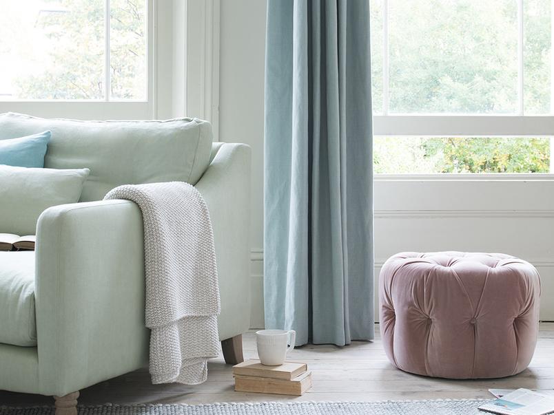 Gumdrop upholstered footstool
